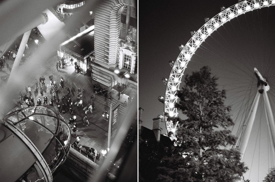 London eye on film night black white